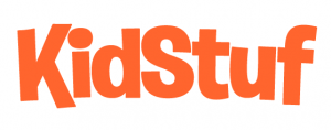 KidStuf Orange Letters White Background